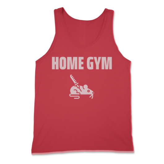 Home Gym Rat w/ Needle Tank Top in Red